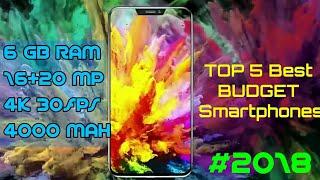 TOP 5 Best BUDGET Smartphones 2018 | (16+20 MP)