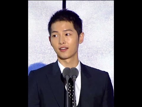 [Engsub]161002 Best Couple Award & Song Joong Ki Mention Song Hye Kyo Cut 송중기 송혜교 宋仲基 宋慧乔