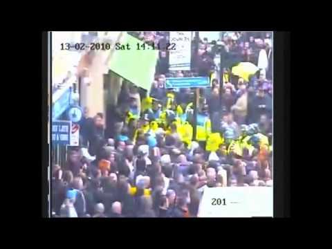 Football hooligans chelsea v cardiff city