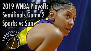 [WNBA Playoffs Semifinals Game2] Sparks vs Sun, Full Game Highlights, September 19, 2019