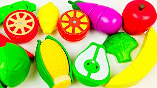 Learn Food Kid Colors with Wooden Toy Playset and Nursery Rhymes for Children