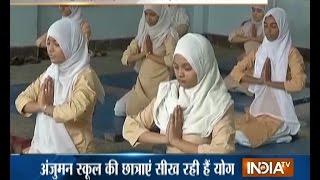 Muslim Girls Begin Yoga Practice Ahead of International Yoga Day on 21st June