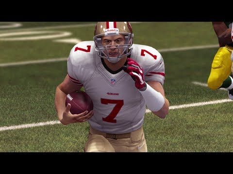 Colin Kaepernick Uses His Legs in the Frozen Tundra NFL Playoffs 2014 - Madden 25 Online Gameplay