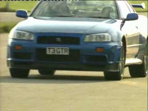 Skyline Stock on Top Gear   Nissan Skyline R34  Lancer Evo 6 Tme   Subaru Impreza P1