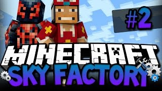 Minecraft Sky Factory: Wiggly Worms!!! - 2 - Modded Sky Island Survival