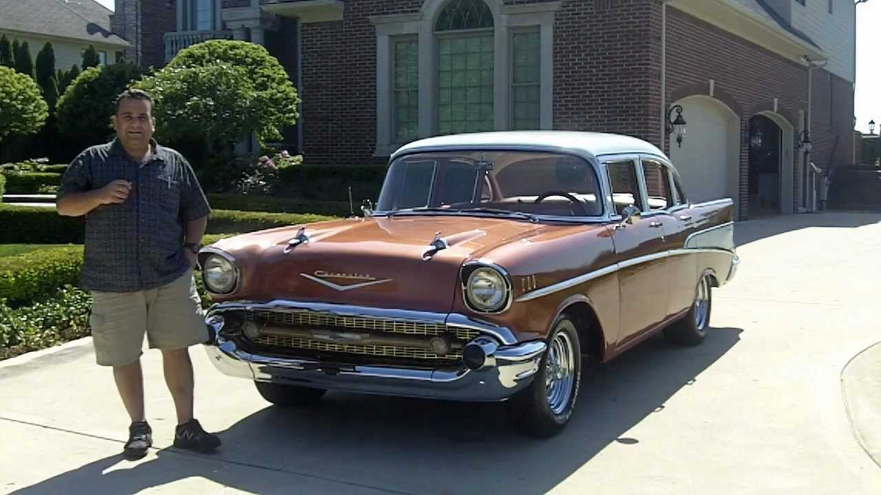 1957 Chevy Bel Air 4 Door Classic Muscle Car For Sale In
