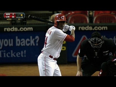 ARI@CIN: Chapman steps to the plate for first time