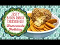 ZESTY BACON RANCH CHEESE BALL!! HOMEMADE HOLIDAY!!