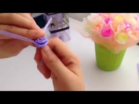 KREASI Kerajinan Tangan Membuat Bunga Dari Sedotan Bekas