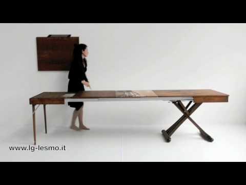Tavolo trasformabile magico estensibile 14 posti lg lesmo youtube for Tavolo da biliardo trasformabile in tavolo da pranzo