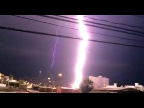 Tormenta eléctrica en Coquimbo... Rayo cae muy cerca