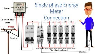 single phase meter wiring diagram | energy meter | energy meter connection by earthbondhon