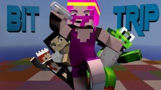 Minecraft Minigame - Bit Trip! Ft. Lilshortysgs, YoshiToMario, and Gizzy Gazza!