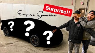 SURPRISING MY FRIEND WITH NEW SUPERCAR WRAP REVEAL!