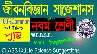 CLASS 9_LIFE SCIENCE SUGGESTION 2018//Class ix life science Chapter 3_Nutrition for 2nd Evaluation