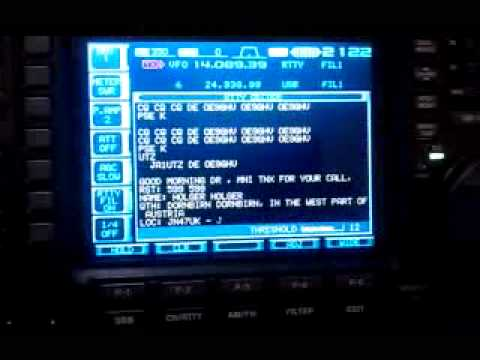 EI4DIB RTTY on Icom IC-756 Pro