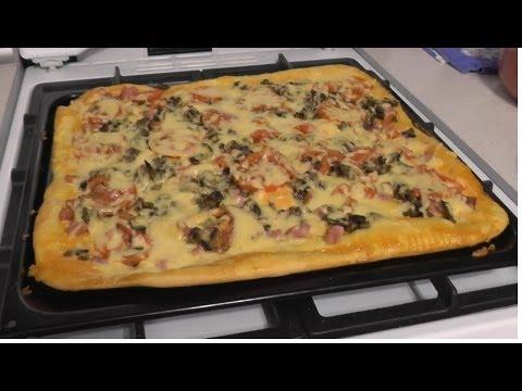Пицца из дрожжевого теста рецепт видео