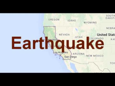 California Earthquake 5 June 2016