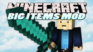 Minecraft Mods | BIG ITEMS MOD (MAKE ITEMS HUGE) | Mod Showcase