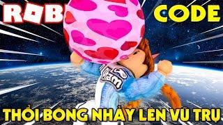 Roblox   NHAI SINGUM THỔI BONG BÓNG NHẢY LÊN VŨ TRỤ - Bubble Gum Simulator (Code)   KiA Phạm