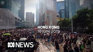 360°: Among the Hong Kong protesters as they fight controversial extradition bill | ABC News