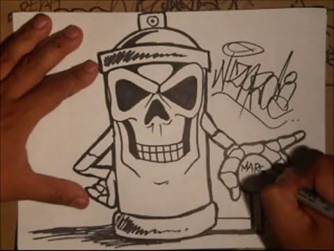 grafiti en spray de huesos