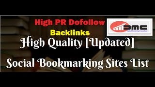 Social Bookmarking Sites List 2017 With High PR DoFollow Backlinks