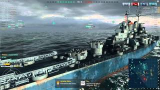World of Warships tier 4 American Destroyer