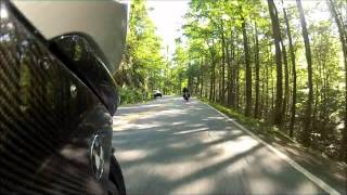 BMW MOTORRAD = BMW K1300S followoing BMW R1100rs on The Tail of the Dragon using a GoPro Hero2 HD
