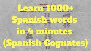 12 Spanish Cognates Rules - Learn 1,000+ Spanish words in 4 minutes!