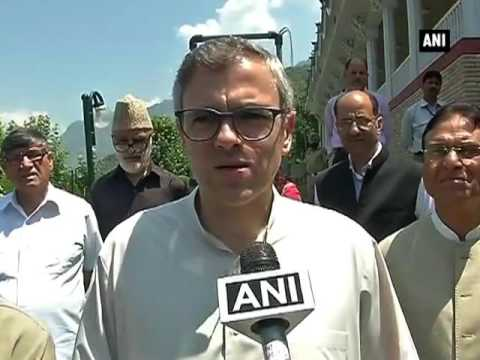 Omar Abdullah meets Rajnath, offers suggestions to solve Kashmir unrest - ANI News