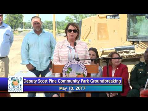 Deputy Scott Pine Community Park Groundbreaking