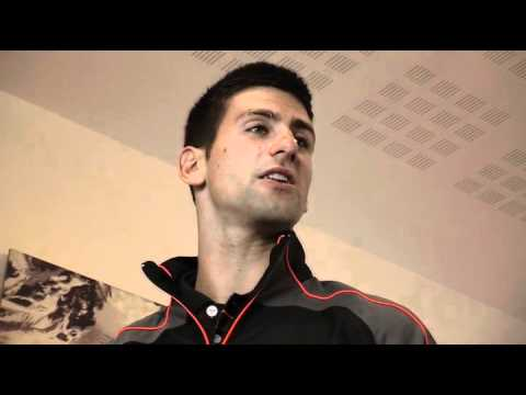 """Novak ジョコビッチ -  Kick Off Briefing for """"Wingテニス"""""""