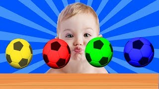Learn colors with baby and ball - Colours for Kids to Learn - Learning Educational Videos