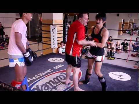 Jai Thai Boxing Gym's trainers sparring at Jai Thai Boxing Gym Image 1