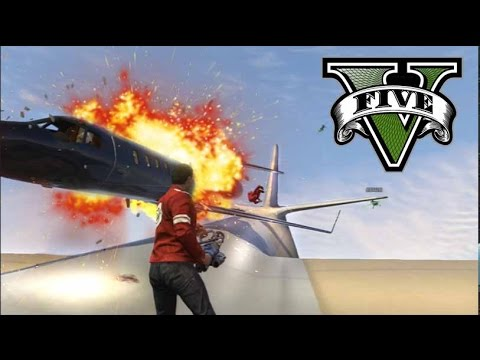 GTA V Online - MUERTE DESDE EL CIELO! - Las 7 Pruebas del monte Chiliad - NexxuzHD