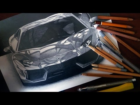 LAMBORGHINI AVENTADOR LP-700 ランボルギーニ DRAWING ISP SUPERCAR