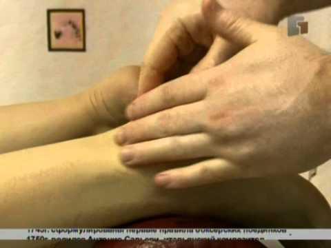 Видео как делать массаж ног