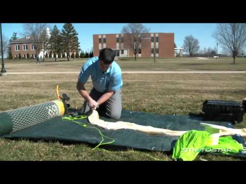 How to fill a weather balloon