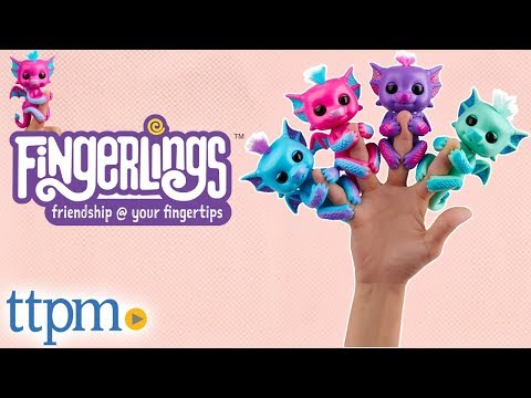 Fingerlings Baby Dragon Tara, Sandy, Kaylin, and Noa from WowWee