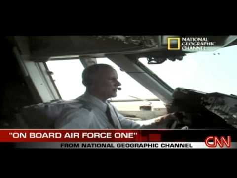 President Barack Obama inside Air Force One