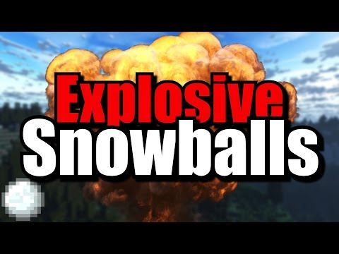 ExplosiveSnowballs | 1.7.2 Bukkit Server Granate Plugin | German | HD