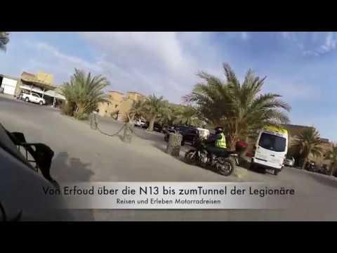 Von Erfoud die N13  zum Tunnel der Legionäre. Reisen und Erleben Motorradreisen
