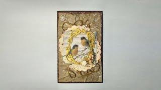 Новогодняя открытка № 2 - Скрапбукинг