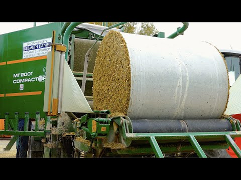Baling and Wrapping Maize Silage | Orkel MP2000 Compactor | Marla bvba