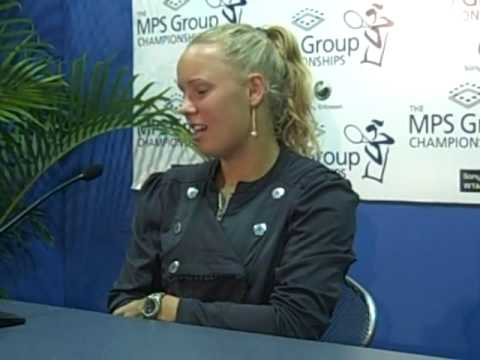 Caroline Wozniacki Press Conference after beating Elena Vesnina.wmv Video