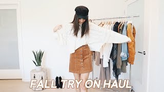 FALL TRY ON HAUL (Lulus, Forever 21, Princess Polly, etc)