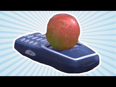 Kızgın Topu Nokia 3310 Telefonun Üstüne Koyduk