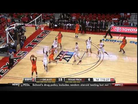 Oklahoma State Markel Brown 25 First Half Points vs Texas Tech