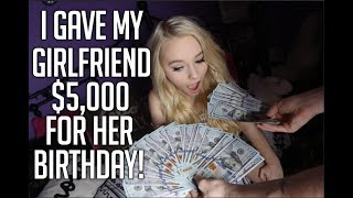 Download Lagu I GAVE MY GIRLFRIEND $5000 FOR HER BIRTHDAY! FT. ZOE LAVERNE AND CODY ORLOVE! Gratis STAFABAND